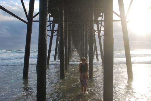 Oside under pier